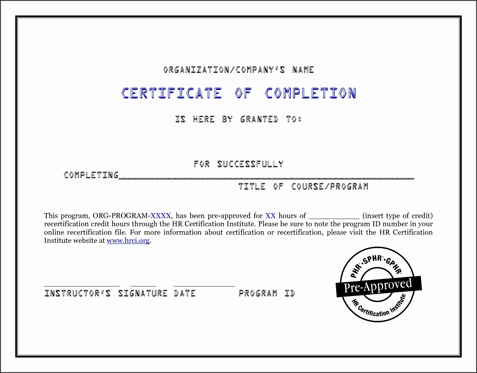 Pletion Certificate Template 4 10 Pletion Certificate Template  Certificate In Word