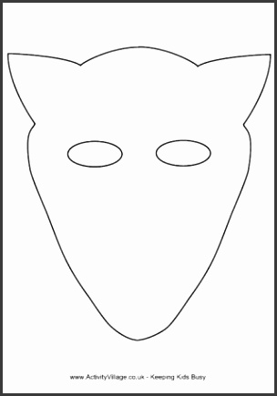 Fox Mask Template