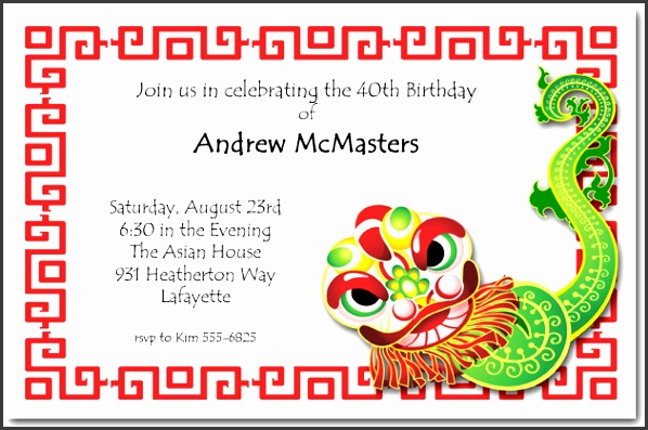 Chinese Wedding Invitation Card Template Download Fresh Attractive Chinese Birthday Invitation Cards 14 With Additional