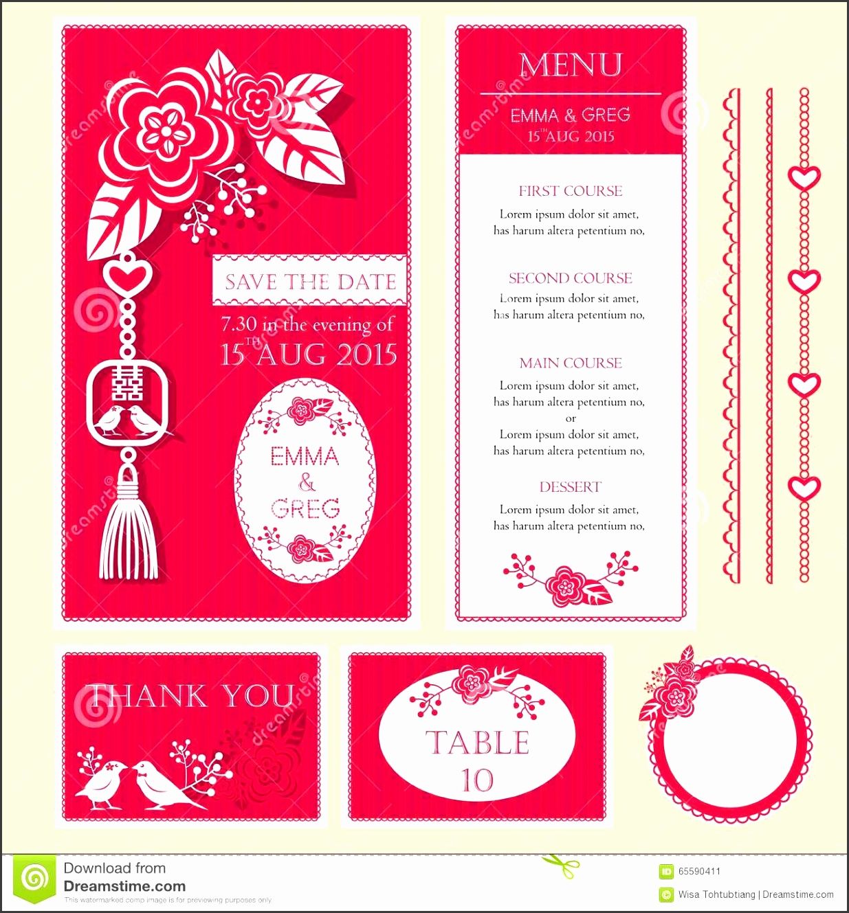 8 Chinese Wedding Invitation Card Template ...