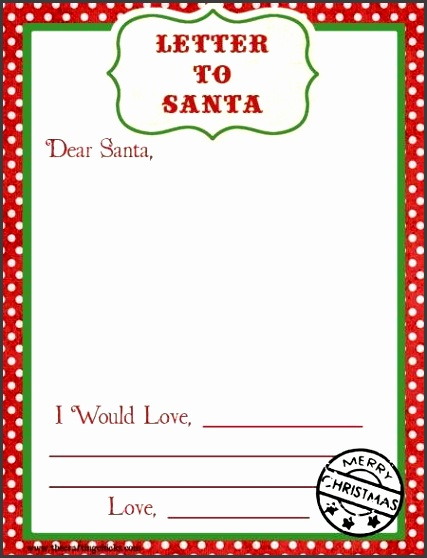 Blank Letters to Santa Letter to Santa Templates Printable Letters to Santa Christmas