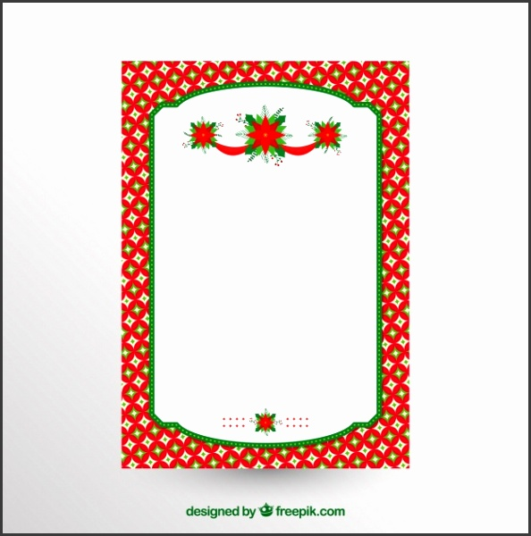Blank christmas letter template Free Vector