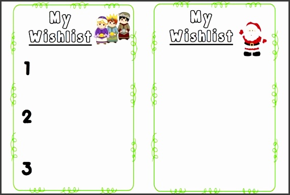 Wishlist Template Christmas List Template Christmas Wish List
