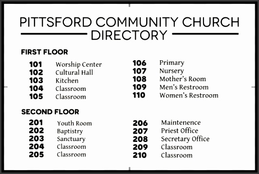 8 church directory template