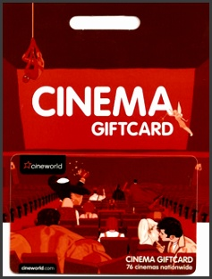 Cineworld Gift Cards