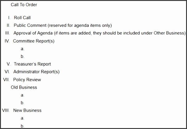 Committee Meeting Agenda Template  Sampletemplatess