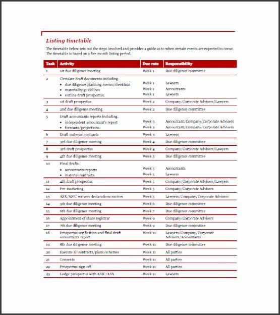 Sample pany Asset List Template