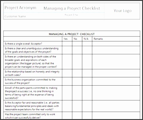 Managing a Project Checklistbig
