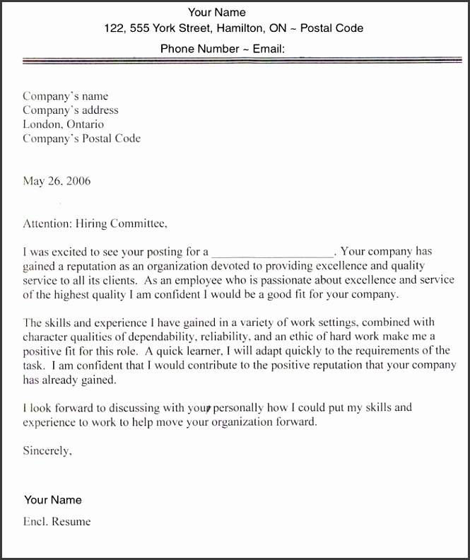 5 cover letter template for job application