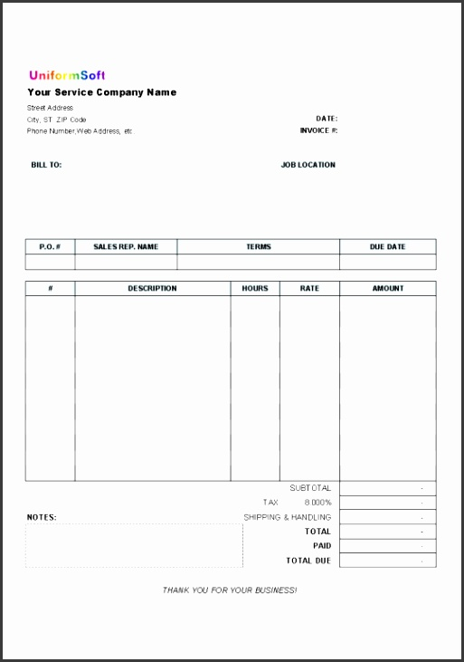 daycare invoice template free