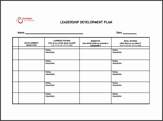 Leadership Development Plan Sample PDF Template Free Download
