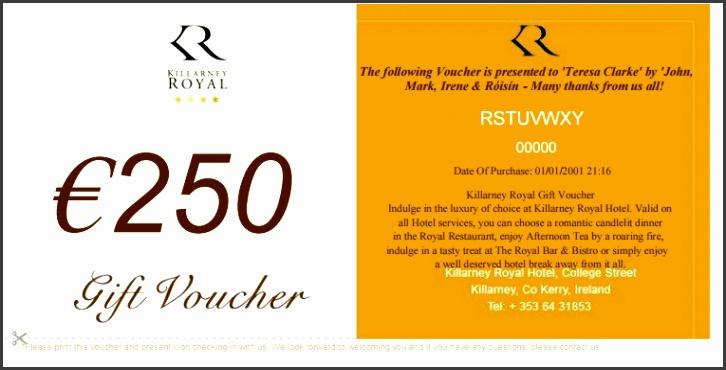 Gift Voucher Template 4941
