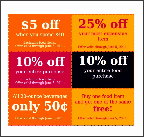 Discount Coupon Template in Word Format