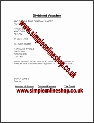 Dividend Voucher & Dividend Resolution