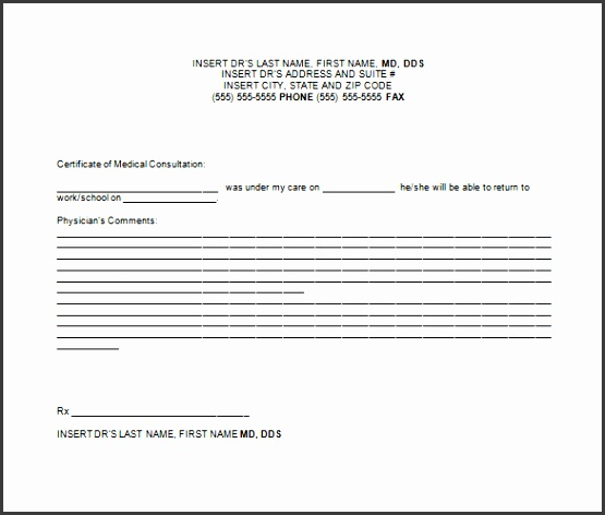 Doctors Note for Childrens Free Word Download
