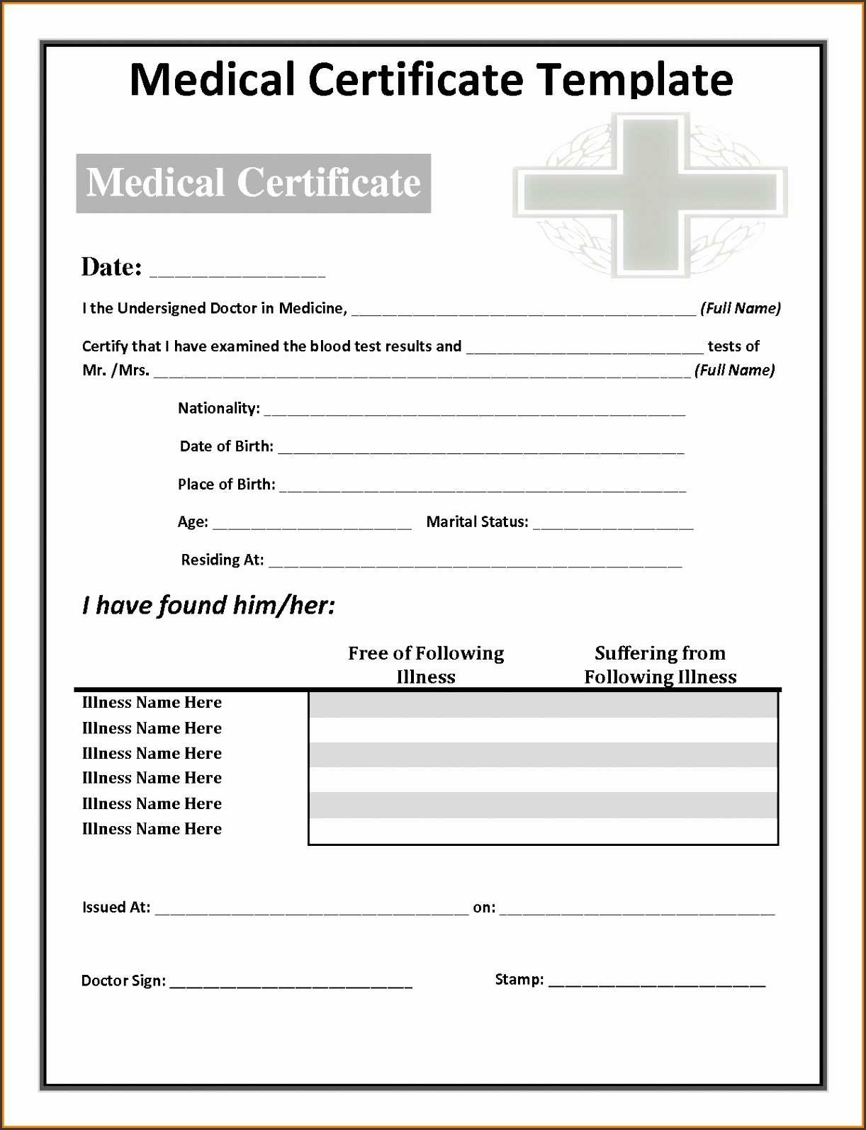 13 fake doctors note template