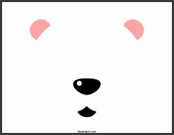 Polar Bear Mask · Reindeer Mask Template