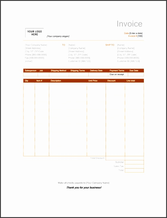 Sales invoice Rust design