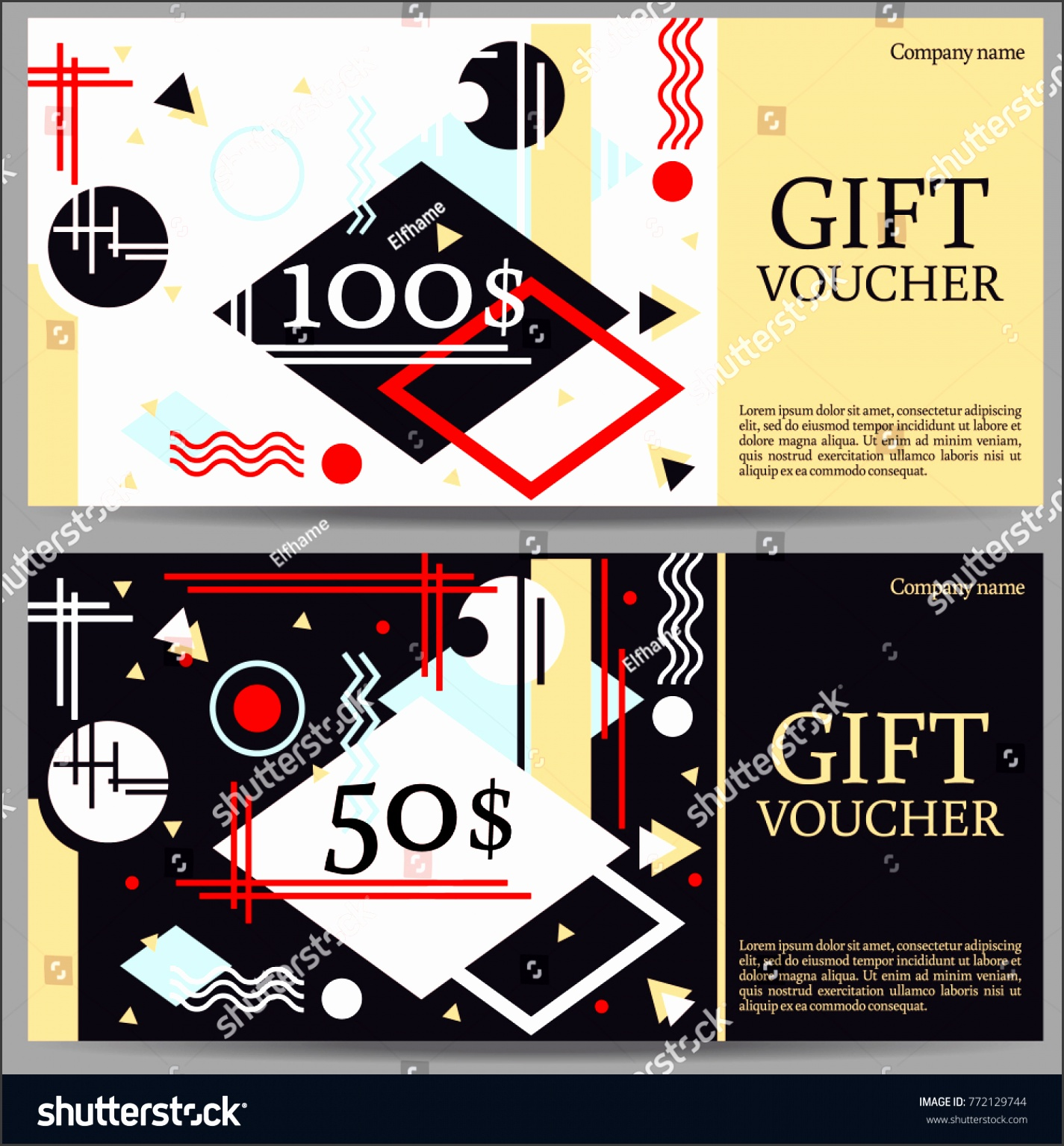 Voucher template applicable pictures t termination letter t voucher template modern abstraction pattern stock vector stock