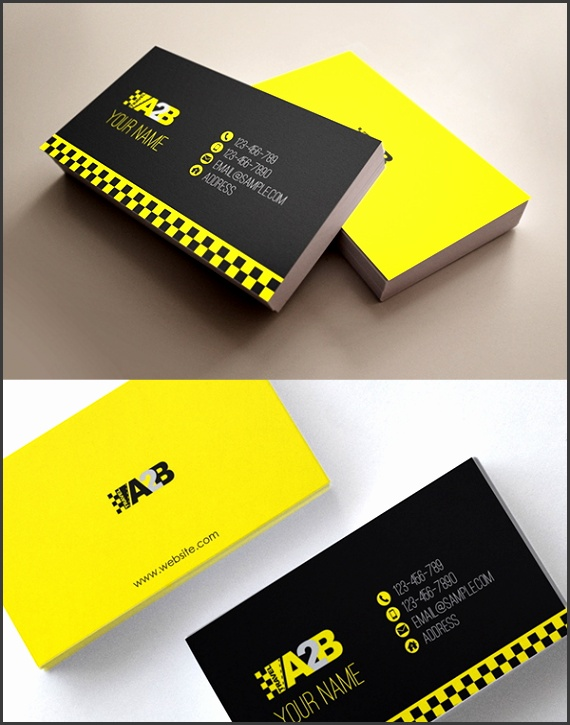 Editable Automotive Business Card Template