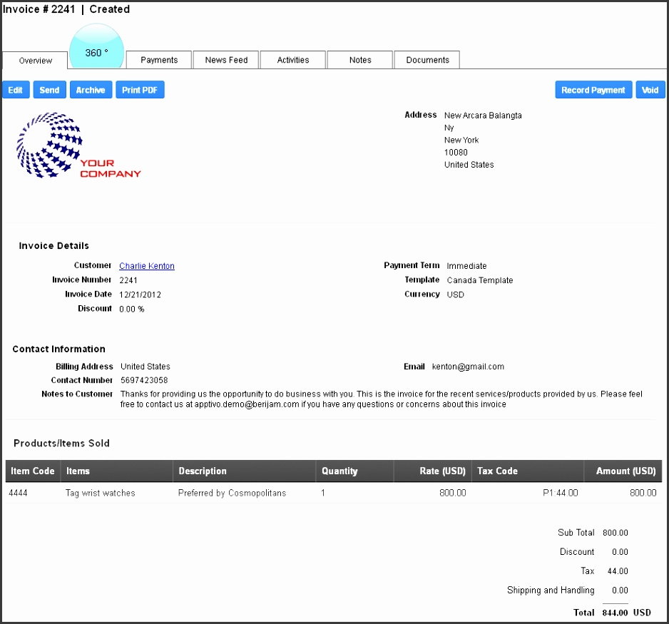 Invoices – electronic invoicing for products & services