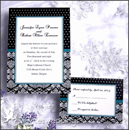 Solemn Elegant Wedding Invitation IWI108