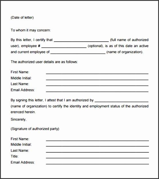 7 employment verification letter template
