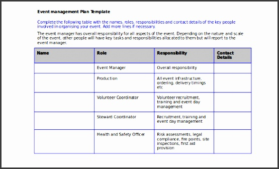 Event Management Plan Template & Guidance Notes