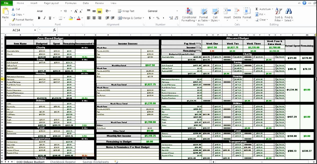 9  excel budget worksheet template
