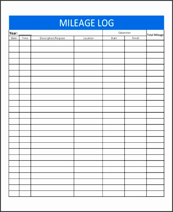 Excel Mileage Log Template  Sampletemplatess  Sampletemplatess