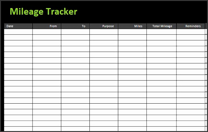 8 excel mileage log template