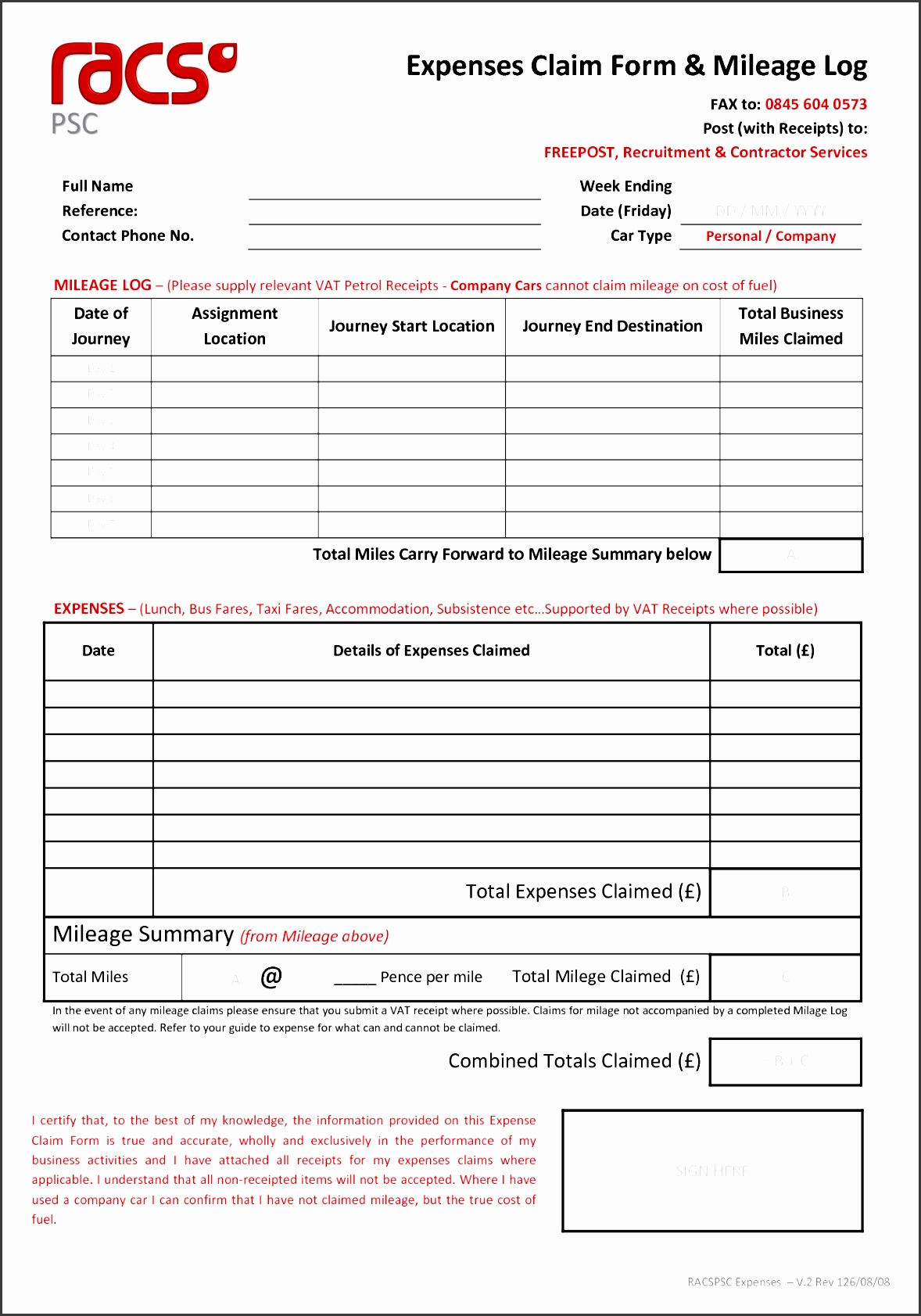 10 expense claim form template