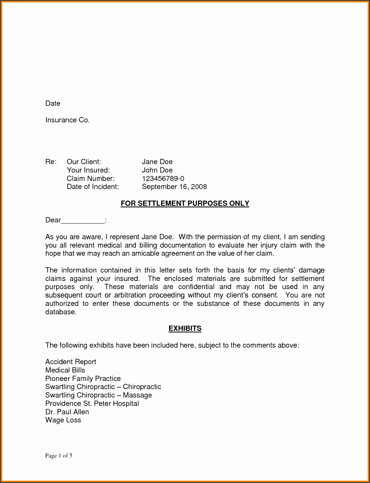 Demand final demand letter sample what is a demand letter settlement deman for Attorney demand letters Attorney demand letter sample