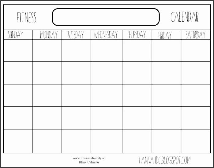 Qt Weekly Calendar : Fitness calendar template sampletemplatess
