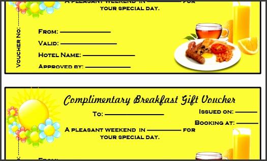 Lovely Plimentary Breakfast T Voucher Template Microsoft Word Meal Voucher Template  Meal Voucher Template