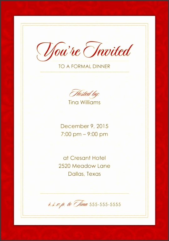 9 formal dinner party invitation wording - sampletemplatess