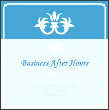 Business After Hours Cocktail Party Invitation