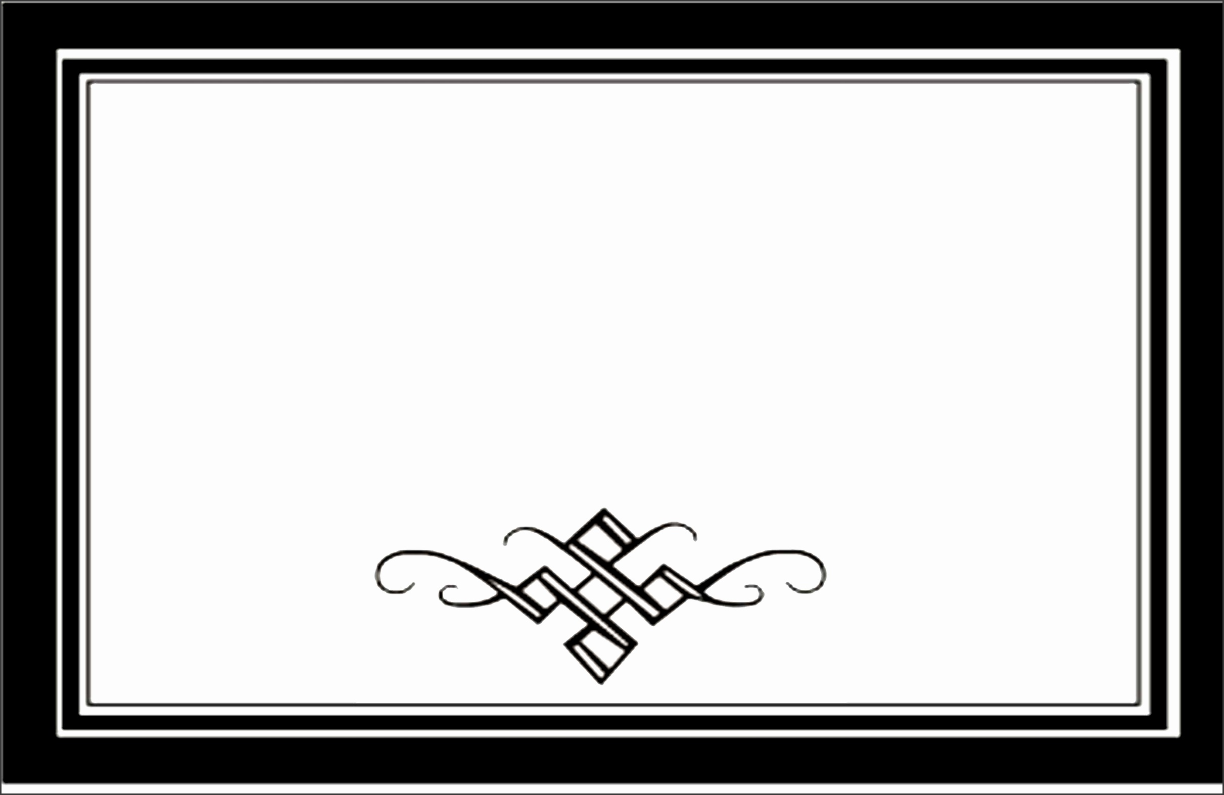Scroll Border Template Tattoo Clipart library Clipart library