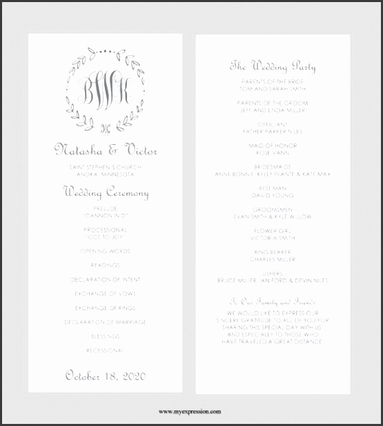 8 formal invitation template microsoft word sampletemplatess wedding program template word file stopboris Images