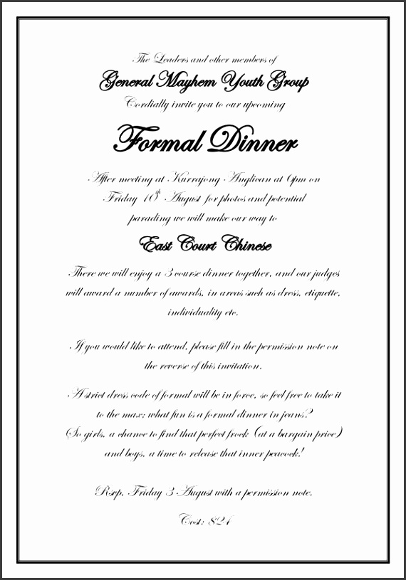 Formal Party Invitation Wording Formal Invitation Join Us Formal throughout Formal Invitation Template 2907