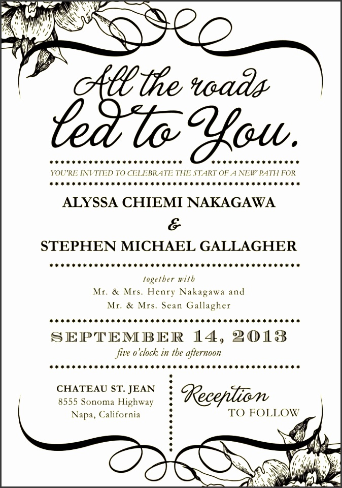 6 formal wedding invitation template