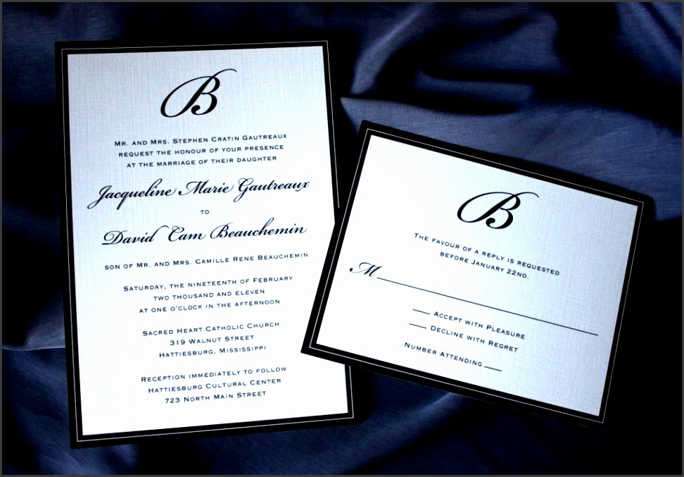 Formal Wedding Invitation Templates: 7 Formal Wedding Invitation Wording Etiquette