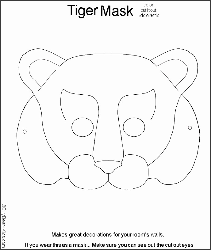 9 fox mask template for children sampletemplatess for Fantastic mr fox mask template
