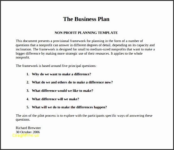 Business Plan Templates Pdf Awesome Non Profit Business Plan Template 21 Free Word Pdf Documents