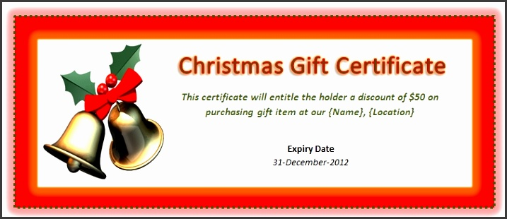 Free Christmas Gift Certificate Template Printable Rainforest intended for Homemade Christmas Gift Voucher Template