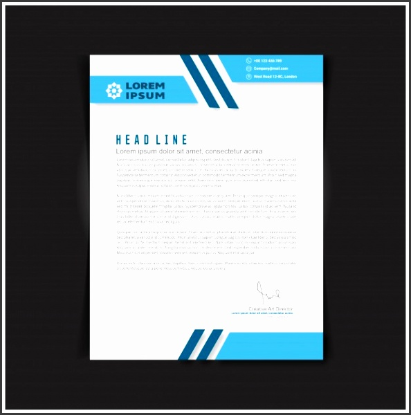 Editable business letter template Free Vector