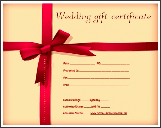 Red Ribbon Gift Certificate Template