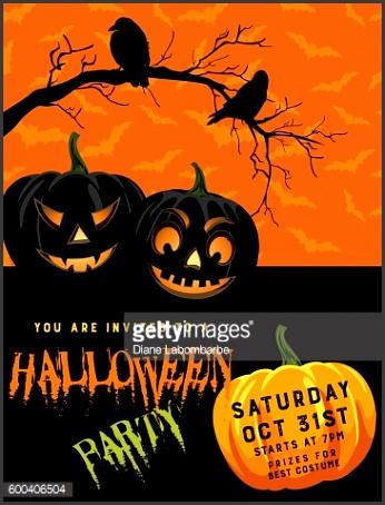 Halloween Party Invitation Template Vector Art