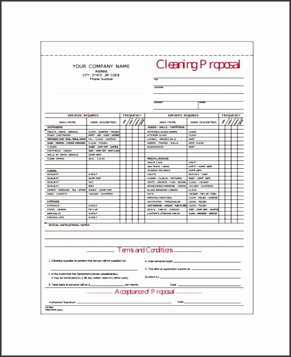 Janitorial Proposal Template Free Roho4senses