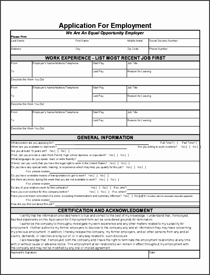 Free Job Application Form Template Word  Sampletemplatess